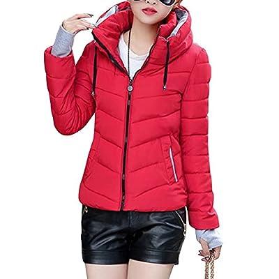 Lobinsun Women's Winter Parkas Short Jacket Slim Cotton Padded Coat