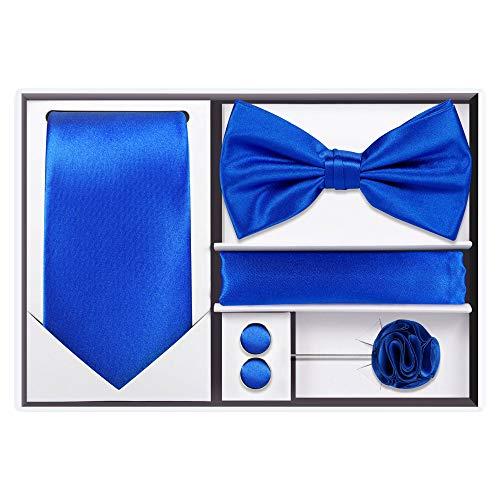 Royal Blue Mens Tie - 5pcs Tie set (Royal Blue)