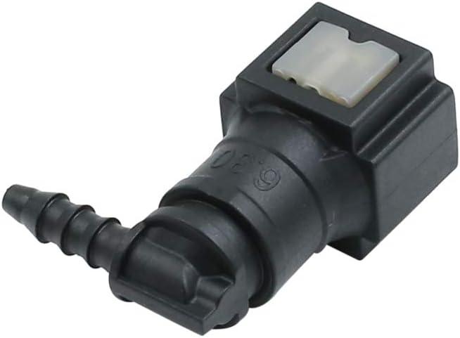 X AUTOHAUX Car Black Fuel Line Hose Pipe Quick Release Connector 6.30mm ID3