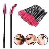 NO:1 Eyelash Brush Mascara Wands Applicator Spoolers Lash Extensions Makeup Tools 50Pcs