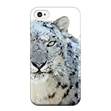 Anti-scratch And Shatterproof Snow Leopard Pictures Phone Case For Iphone 4/4s/ Top Quality Tpu Case