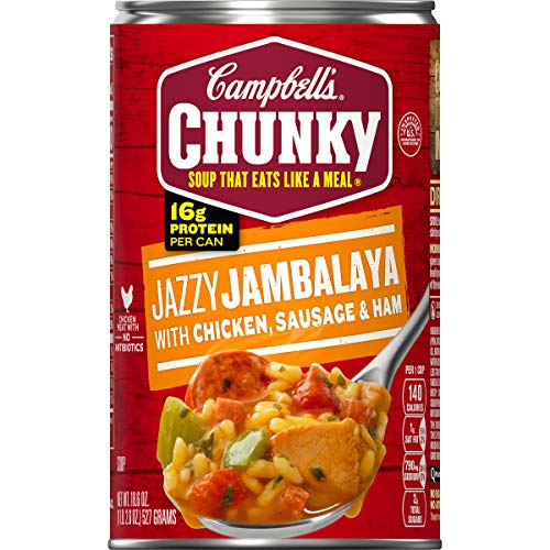 Campbell's Chunky Jazzy Jambalaya with Chicken, Sausage & Ham Soup, 18.6 oz. Can