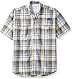 Columbia Men's Super Bahama Shorts Sleeve Shirt, Sage Plaid, X-Large