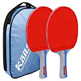 Table Tennis Racket 6 Star Easy to Start Open Grip Durable Rubber