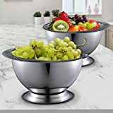 Stainless Steel Kitchen Bowl Large 3.5 Quart Capacity for Mixing, Salads, Baking, BBQ by Pro Chef Kitchen Tools