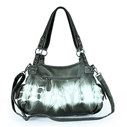 Large Design Zipper Purse Shoulder Soft Lether Womens Bags Handbags Multiple Angelkiss Pockets Feel Top O1wxqgqF