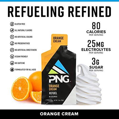 Refuel by PNG Sports Nutrition Endurance Energy Gels 24 Pack (Orange Cream)