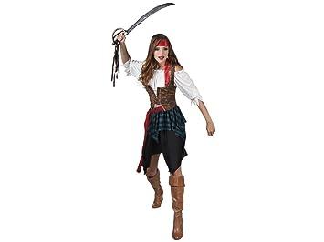 35461ef3170 Déguisement de pirate pour femme Comporte une jupe, une ceinture, un  bustier, un gilet et un bandeau Ce costume est idéal pour incarner une ...