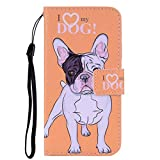 Galaxy S8 Plus Case, The Grafu® Slim Magnetic PU Leather Case with Stand Function and Credit Card Slot, Flip Wallet Cover for Samsung Galaxy S8 Plus, Dog