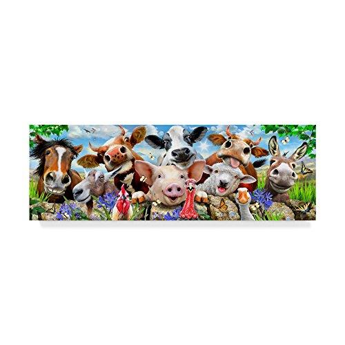 Goofy Farm Portrait by Howard Robinson, 8x24-Inch