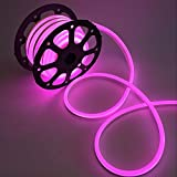 WYZworks Pink Flexible Water Resistant Soft Single Side LED Neon Rope Light Strip Bar 150FT