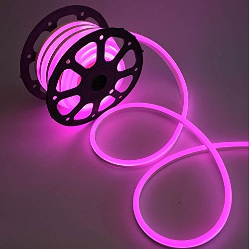 WYZworks Pink Flexible Water Resistant Soft Single Side LED Neon Rope Light Strip Bar 150FT by WYZworks
