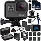 6Ave GoPro HERO6 Black + 64GB microSDXC Card + Battery For Gopro Hero + Micro HDMI Cable + Custom GoPro Case for GoPro HERO4 and GoPro Accessories + SD Card USB Reader + MicroFiber Cloth Bundle