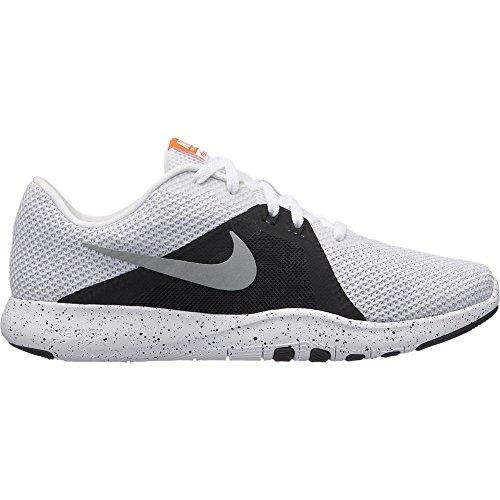Nike Metallic Argento W 110 8 Weiß Hallenschuhe Damen Trainer Nero Bianco Flex 1r18q