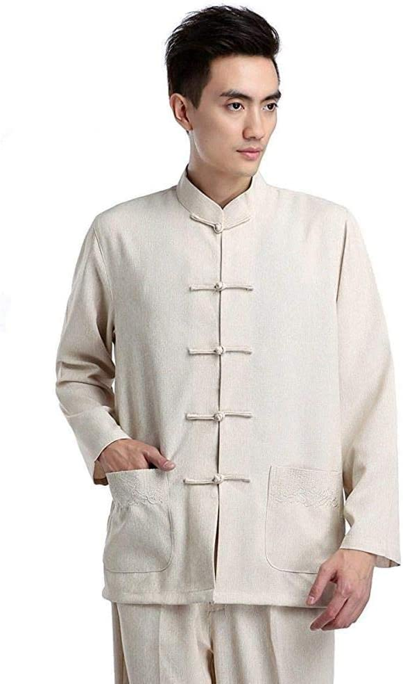 Beige Traditional Chinese Men's Kung Fu