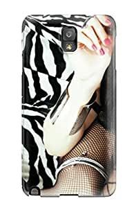 Tpu Case Cover For Galaxy Note 3 Strong Protect Case - Helalyn Flowers Music People Music Design