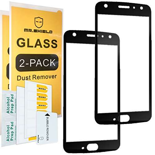 [2-PACK]-Mr Shield For Motorola Moto X4 / Moto X (4th Generation) [Japan Tempered Glass] [9H Hardness] [Full Cover] Screen Protector with Lifetime Replacement Warranty