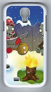 Christmas Plants VS Zombies PC Case Cover for Samsung Galaxy S4 I9500 White