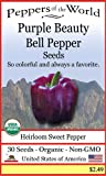 Purple Beauty Heirloom Bell Pepper 30 Seeds non-GMO