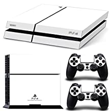 Ps4 Playstation 4 Console Skin Decal Sticker White Classic + 2 Controller Skins Set