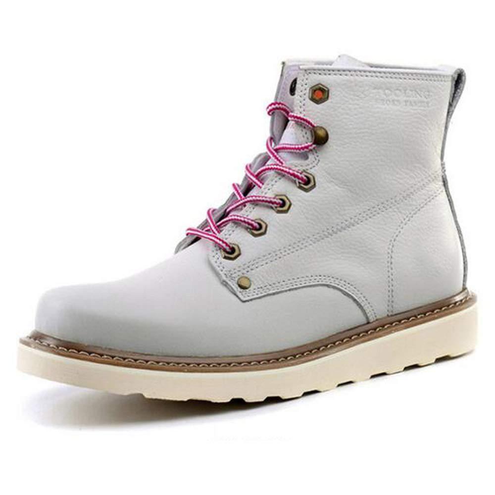 cc8b347871 GZZ Schuhe Herren Martin Stiefel Winter Outdoor Ausrüstung Schnee  Lederstiefel Rutschfeste Halten Sich Warm,Weiß-43 Sie Herbst nrpylb2469- Stiefel