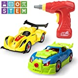 Race Car Take Apart Toys – 53pk Build a Car Kits for Kids, Building, Construction Engineering Set, Educational Learning STEM Toys for Boys or Girls