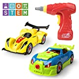 Take Apart Race Car Toys – 53pk Build a Car Toys for Kids Building, Construction and Engineering Set, Educational Learning STEM Toys for Boys or Girls