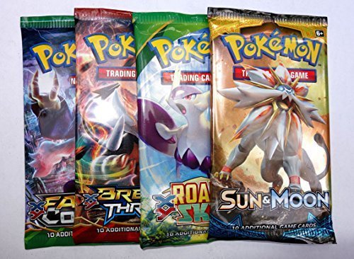 Pokemon assorted boosters: 4 packs (Booster Pokemon Cards Packs)