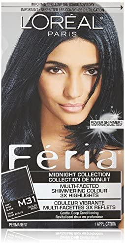 Feria Midnight Collection Hair Color, M31 Cool Soft Black ...