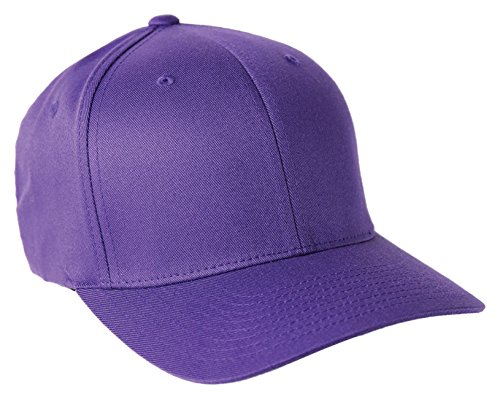 Flexfit Wooly Combed Twill Cap - 6277 (Large/XLarge, Purple)