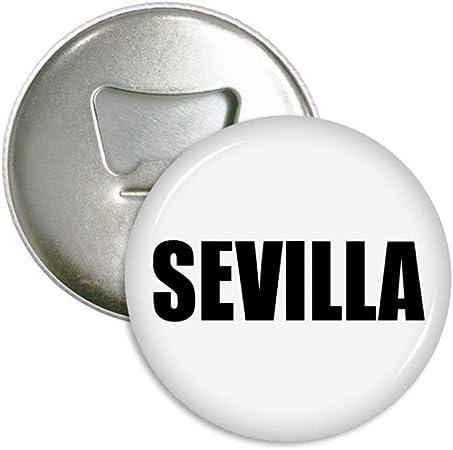 Compra DIYthinker Nombre Sevilla españa Ciudad de Ronda abrebotellas imanes Insignia del botón 3pcs Regalo Plata en Amazon.es