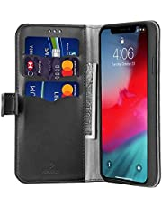 Wallet style for iPhone 11 pro max flip leather phone case multifunctional 6.5 inch card holder phone cover anti fall anti shockproof protective sleeve black