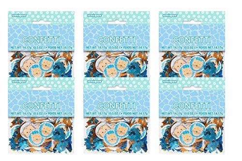 Blue Safari First Birthday Confetti, 6pk