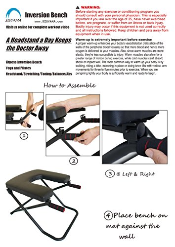 Sisyama Fitness Yoga Chair INVERSION BENCH + BENCH WORKOUT MANUAL
