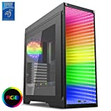 Game Max Abyss Full Tower Case with Tempered Glass Front Panel - Black