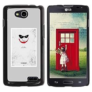 iKiki Tech / Estuche rígido - Scary Face Creepy Smile Poster - LG OPTIMUS L90 / D415