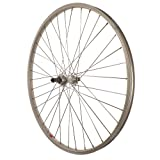 Sta-Tru Silver Alloy ATB 6-7 Speed Freewheel Hub Quick Release Rear Wheel, 26X1.5-Inch