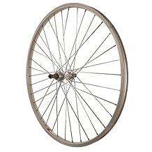 Sta-Tru Silver Alloy ATB 6-7 Speed Freewheel Hub Quick Release Rear Wheel, 26X1.5-Inch