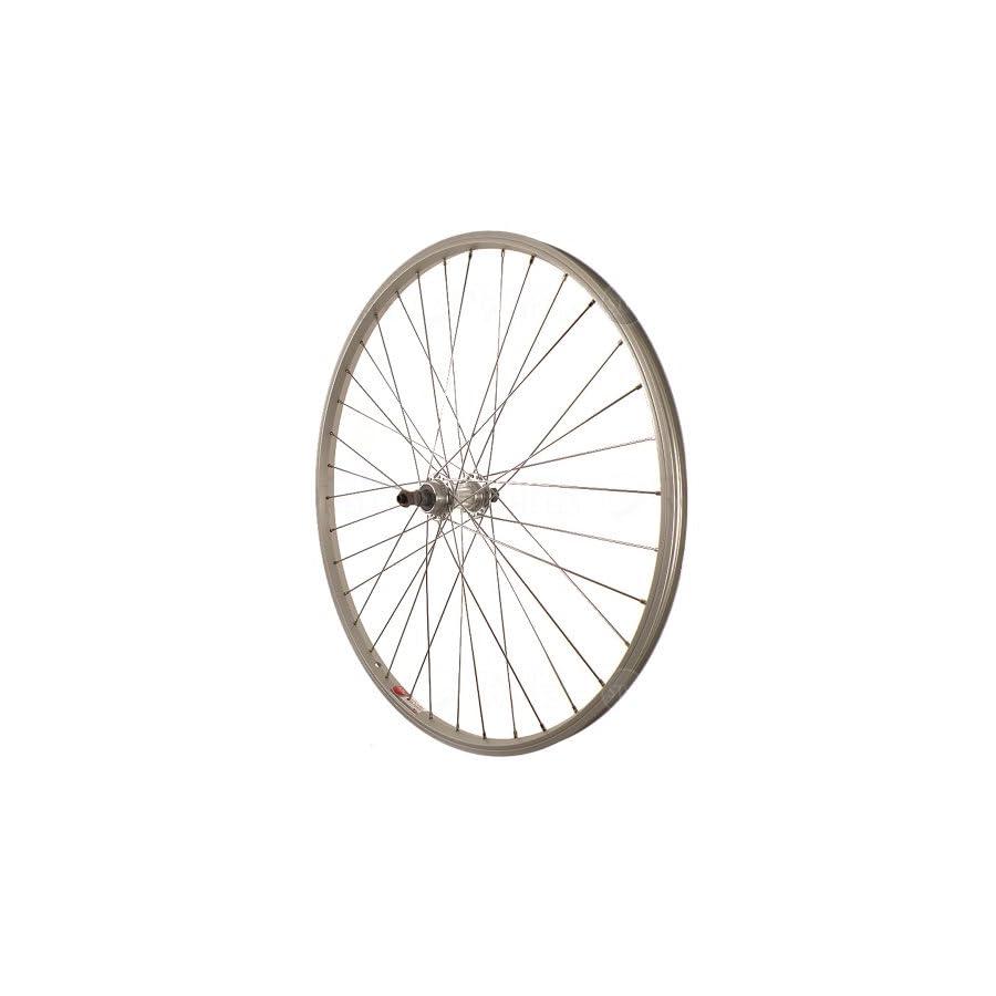 Sta Tru Silver Alloy ATB 6 7 Speed Freewheel Hub Quick Release Rear Wheel (26X1.5 Inch)