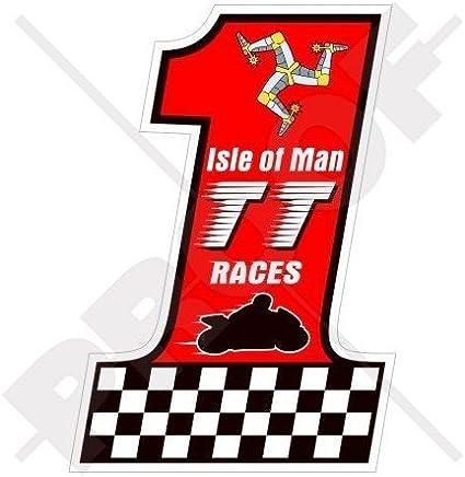 Isle Of Man Tt Races Nummer 1 Manx Moto Gp 10 2 Cm 100 Mm Vinyl Bike Helmet Aufkleber Aufkleber Garten