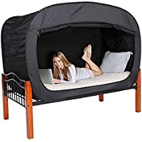 Privacy Pop Twin Bed Tent in Black provides a convenient and easy way to enjoy privacy in shared Bedrooms, Open Sleeping Areas, Multi-Occupancy Dorm Rooms