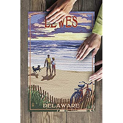 Lewes, Delaware - Beach and Sunset (Premium 500 Piece Jigsaw Puzzle for Adults, 13x19, Made in USA!): Toys & Games