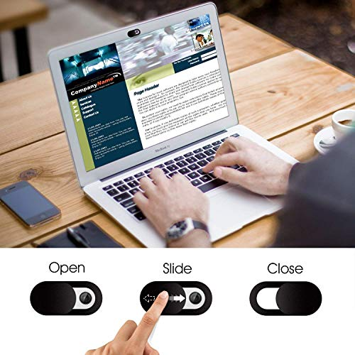 Elimoons Webcam Cover Slide, Ultra Thin Laptop Camera Cover Slide Blocker for Computer MacBook Pro iMac PC Tablet Notebook Surface Pro Echo Show Camera Protecting Your Privacy Security
