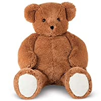 Vermont Teddy Bear - Big Bear Sweetheart, 3 Feet Tall, Brown
