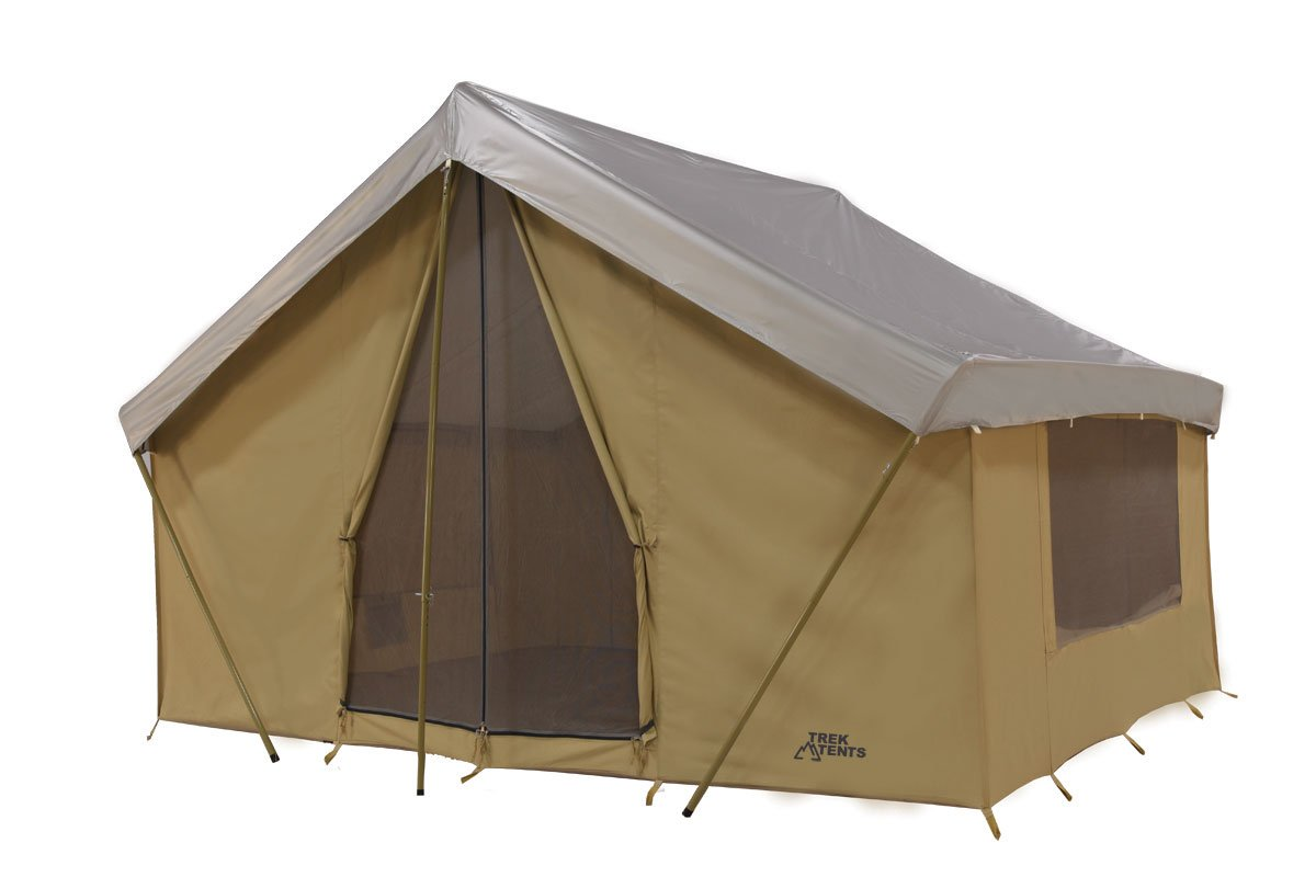 Amazon.com  Trek Tents 246C Cotton Canvas Cabin Tent 10 x 14-Feet Beige  Sports u0026 Outdoors  sc 1 st  Amazon.com & Amazon.com : Trek Tents 246C Cotton Canvas Cabin Tent 10 x 14 ...