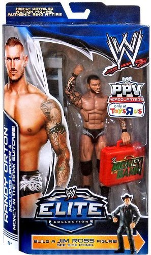Mattel WWE Wrestling Exclusive Elite Collection Pay Per View Action Figure Randy Orton [Jim Ross Build a - Randy Wrestling Orton