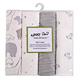 Square 100% Cotton Flannel Receiving Baby Blankets, Premium Quality, Pack of 4 , Excellent Baby Shower Gift