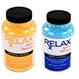 Detox & Sports Therapy Bath Salts, Minerals & Vitamins -19 Oz Bottles- Spa Crystals for Soaking Aches, Pains & Tension Relief