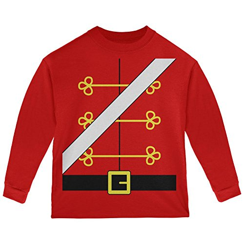 Christmas Toy Soldier Nutcracker Costume Toddler Long Sleeve T Shirt Red (Toy Soldier Clothing)
