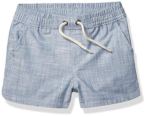 Spotted Zebra Girls' Pull-On Shorts, Chambray, Small (6-7)